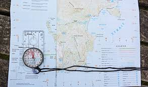magnetic declination map skills map and compass reading