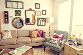 Eclectic Living Room Furniture Furniture Gorgeous Living Space With Brown Sofa Near Brown