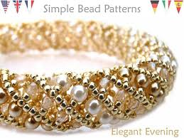bracelet beading pattern images Netted stitch beading pattern bracelet necklace jewelry making jpg