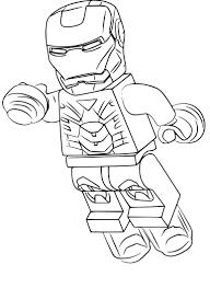 Coloriage Lego Iron Man à imprimer