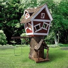 daniels wood land original outdoor wood tree playhouse walmart com