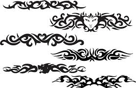 black ink tribal armband design