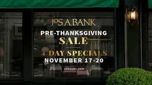 jos a bank pre thanksgiving sale tv commercial sweaters suits