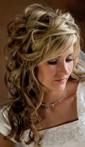 thick hairstyle ideas wedding hairstyles ideas side ponytail curly half up wedding