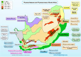 grade 5 physical features of south africa map u2013 studychamp