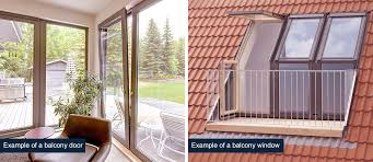 what are balcony windows and doors crown windows