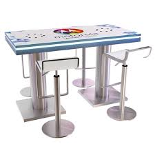 Rectangular Meeting Table Trade Show Counters 16 Port Charging Station Rectangular Meeting