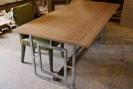 wood table with metal legs home and house photo awesome rectangular dining table with