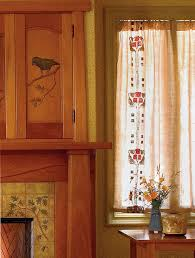 Arts And Crafts Style Curtains Easy Craftsman Era Curtains Craftsman Craft And Craftsman Style