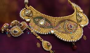 new gold set n4103 dulhan choker necklace earrings tikka antique gold plated