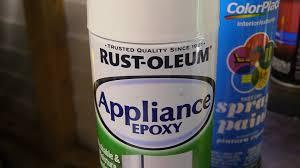 rustoleum appliance epoxy paint test youtube