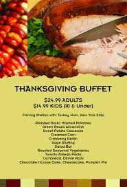 event thanksgiving buffet at paradise club fort