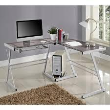 Z Line Belaire Glass L Shaped Computer Desk Desks Walker Edison Student Desk Collection Staples Z Line
