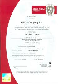 bureau veritas ltd certificate and hologram