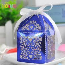 wholesale favors hot wedding favors box royal blue souvenir candy gift box