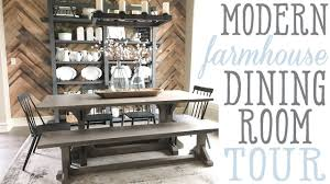 ashley u0027s modern farmhouse dining room tour youtube