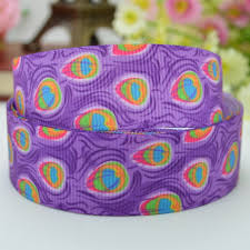 peacock ribbon duwes 7 8 22mm peacock bright rainbow colors feathers printed