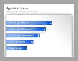 powerpoint design vorlage professional powerpoint agenda template agenda with 5 items and