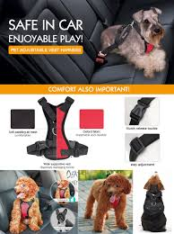 Four Paws Comfort Control Harness Amazon Com Pawaboo Dog Safety Vest Harness Pet Dog Adjustable