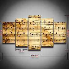 music note home decor music notes canvas wall art home decor living room framed unframed