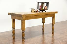 sold butcher block 1910 antique maple 6 u0027 work table kitchen