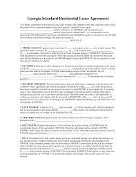 Rental House Lease Agreement Template Free Georgia Standard Residential Lease Agreement Template Word