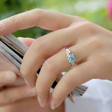 blue topaz engagement rings shape 1 carat blue topaz engagement ring on sale for