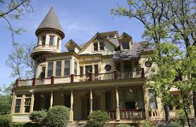 attractive classic home with victorian front porch design