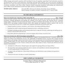 C Level Executive Resume Samples by Secretary Resume Templates Resume Template For Medical Secretary