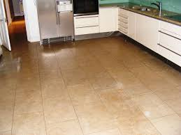 kitchen floor tile ideas with oak cabinets beige l shaped cabinet