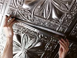 how to install tin ceiling tile how tos diy