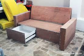 Diy Outdoor Sectional Sofa Plans Diy Sofa With Storage How To Pinterest Diy Sofa Sofas