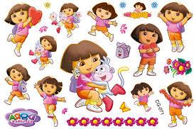 selling kids dora cartoon stickers temporary tattoos children