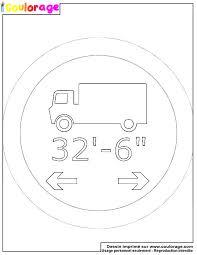 Coulorage  Dessin et coloriage de panneau routier à imprimer