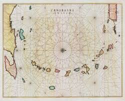 Old Map South America by Blaeu Canibales Insulae Amsterdam 1662 Hand Coloured Engraved