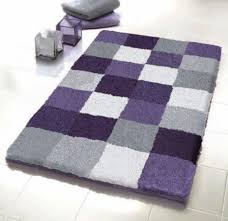 Grey Bathroom Rug Boxed Pattern Rug Quality Bathroom Rugs Types And Features Home