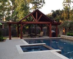 poolside pergola pavillion combination pergolas and pavilions