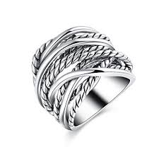fashion rings men images Mytys fashion silver bnad rings vintage intertwined jpg