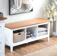 Bench With Baskets Hallway Bench With Storage U2013 Dihuniversity Com
