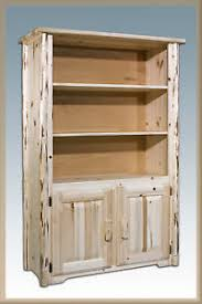 Solid Wood Bookcase Solid Wood Bookcase Doors Log Book Shelf Solid Pine Cabinet Amish