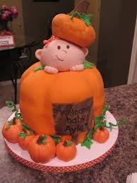 pumpkin baby shower cake by olive parties olive parties cakes