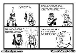 Memes Comics - games memes comics snake s one track mind gamedynamo