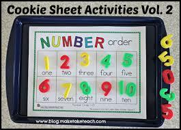 cookie sheet activities pre k kindergarten bundle make take