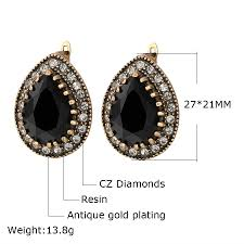resin necklace wholesale images Indian jewelry 2017 designer fashion earrings for women water drop jpg