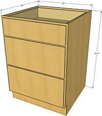 3 Drawer Base Cabinet Natural Shaker Kitchen Cabinets Rta Cabinet Store