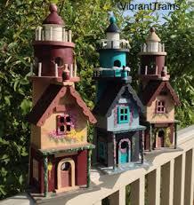 Lighthouse Garden Decor Sale Lighthouse Birdhouse Home And Garden Decor Custom Hand