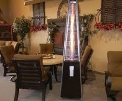 Flame Patio Heater Resort Model 40 000 Btu Pyramid Style Glass Tube Flame Patio