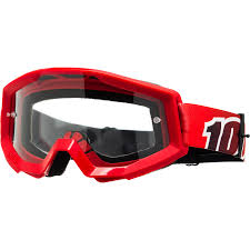 100 motocross goggles 100 percent strata fire red clear goggles at mxstore