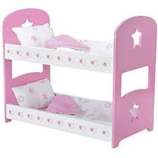 Amazoncom Badger Basket Blossoms And Butterflies Doll Bunk Beds - Pink bunk bed