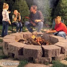 How To Build A Stone by How To Build A Stone Fire Pit Ring Family Handyman